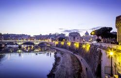 natt rome Royaltyfri Fotografi