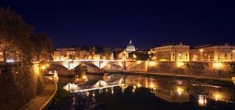 natt rome arkivfoto