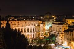 natt rome italy arkivfoto