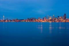 natt seattle Fotografering för Bildbyråer