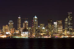 natt seattle Royaltyfri Bild