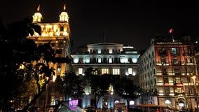 natt shanghai Arkivbilder