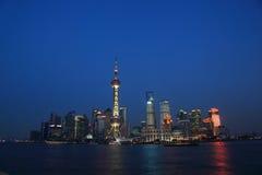 natt shanghai Royaltyfri Bild