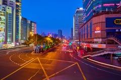 natt shanghai Royaltyfri Foto
