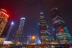 natt shanghai Royaltyfria Bilder