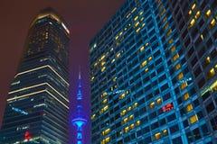 natt shanghai Royaltyfria Foton