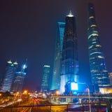 natt shanghai Arkivbild