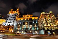 natt shanghai för bundporslinbild Royaltyfri Fotografi