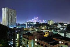 natt singapore Arkivbilder