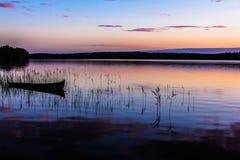 Natt sjö Arkivbild