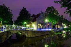 Natt som skjutas av kanalen Royaltyfri Fotografi