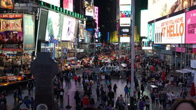 Natt som skjutas av Times Square stock video