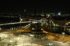 natt stockholm Royaltyfri Fotografi