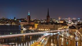 natt stockholm Royaltyfria Bilder