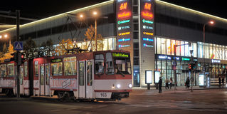 Natt Tallinn Arkivbilder