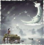 Natt. Tid av mirakel och magi vektor illustrationer