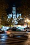 Natt Valencia Arkivbilder