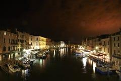 natt venice Arkivbilder