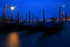 natt venice royaltyfria bilder