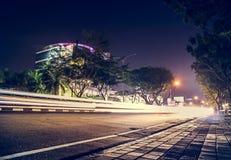 Natt vid natt Arkivbilder