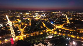 natt vilnius Fotografering för Bildbyråer