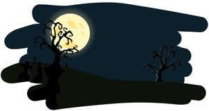 Nattbakgrund på Helloween Arkivfoto