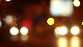 Nattbiltrafik Bokeh lager videofilmer
