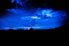 Nattblixt över Arkivbild