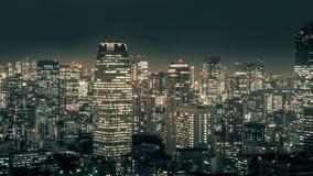 Nattcityscape av TOKYO Arkivfoton