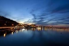 Nattcityscape i Kyiv Fotografering för Bildbyråer