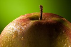Natte Appel met waterdalingen Royalty-vrije Stock Fotografie