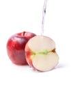 Natte appelen royalty-vrije stock foto