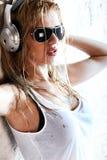 Natte muziek Royalty-vrije Stock Foto's