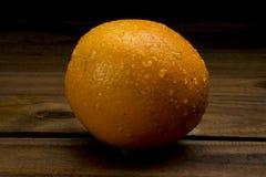 Natte Sinaasappel Stock Foto's