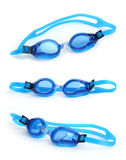 Natte zwemmende beschermende brillen royalty-vrije stock foto's