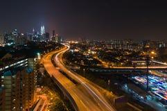 Kuala Lumpur cityscape Arkivfoto