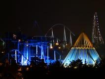 Natten Europa-parkerar in Fotografering för Bildbyråer