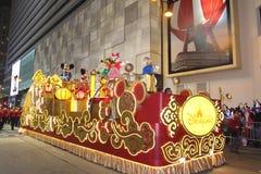 Natten för det nya året för landskampen ståtar den kinesiska 2013 royaltyfri bild