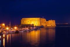 Natten i Heraklion Royaltyfri Fotografi