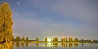 Natten landskap Royaltyfria Foton