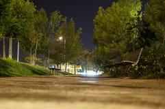 Natten parkerar Arkivbild