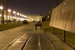 Natten parkerar Royaltyfri Fotografi