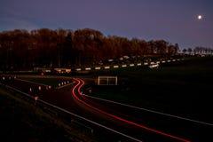 Natten samlar fotografering för bildbyråer
