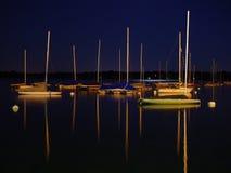 natten seglar Arkivfoton