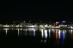 Natten sköt av Pushkar sjön eller Pushkar Sarovar på Pushkar - Rajasthan - Indien Arkivbild