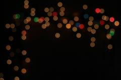 Natten tänder - färgbakgrund - fantasi och inspiration av Iconic ljus Royaltyfri Foto
