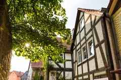 Natter historisch dorp hesse Duitsland stock afbeeldingen