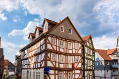 Natter historisch dorp hesse Duitsland stock fotografie