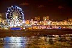 Nattetid Brighton royaltyfria bilder