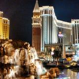 Nattetid i Vegas Royaltyfri Foto